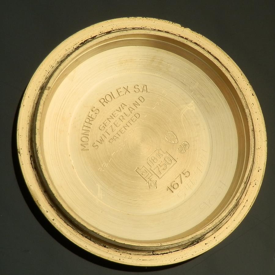 激希少フヅツボBLACK★ロレックス GMTマスター Ref.1675/8★18金無垢 シャンパンゴード Cal.1570のサムネイル