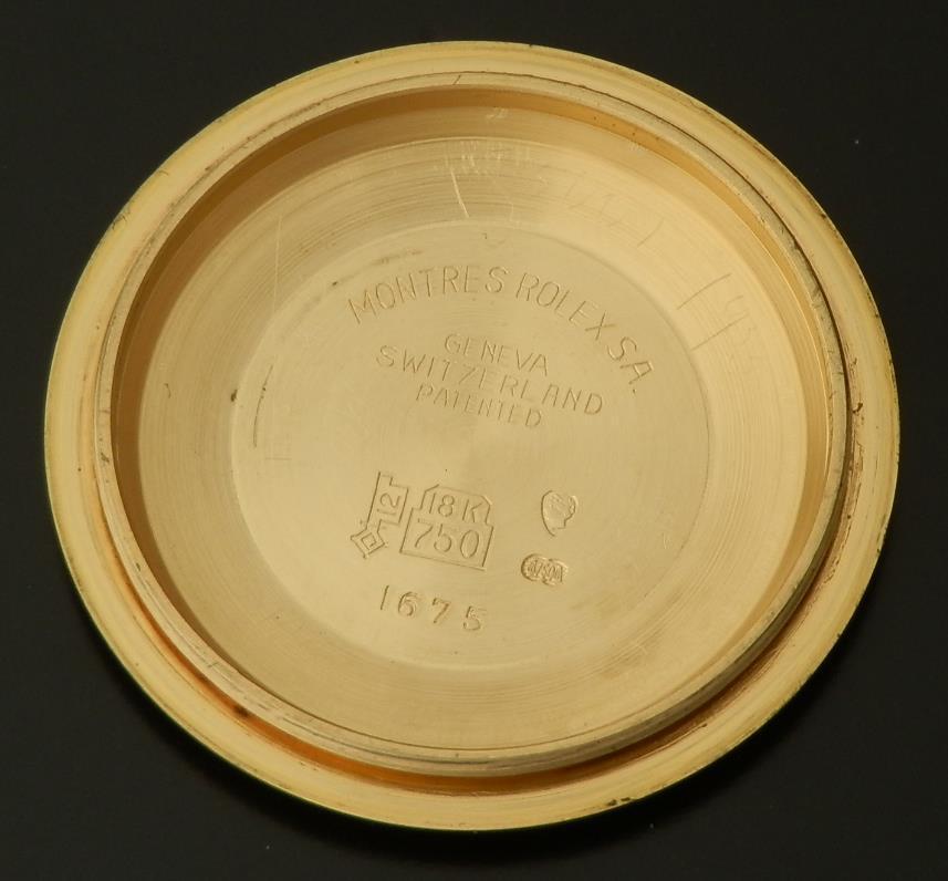 激希少オール18金無垢シャンパンゴード★ロレックス GMTマスター Ref.1675/8★1978年のサムネイル