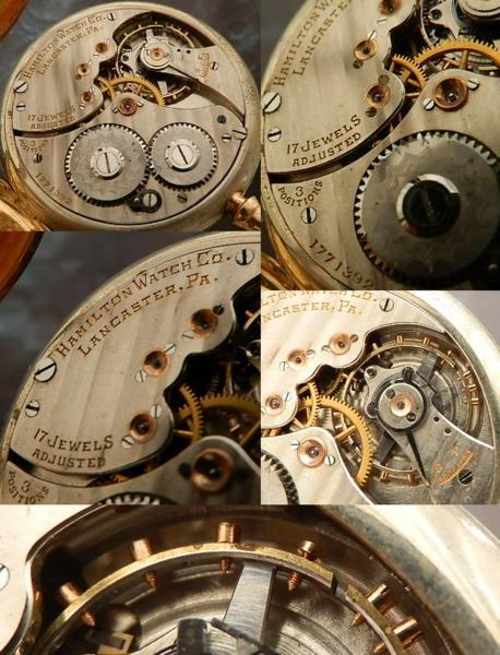 激希少1921年製造14金無垢懐中★ハミルトン★逆配置グレードCal.10(910)のサムネイル