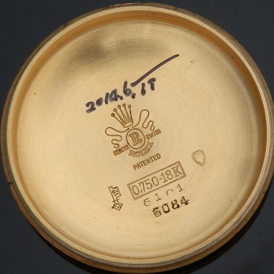 幻Ref.6101ミラー★ロレックス セミバブルバック★オール18金無垢ローズゴールド Cal.645 のサムネイル