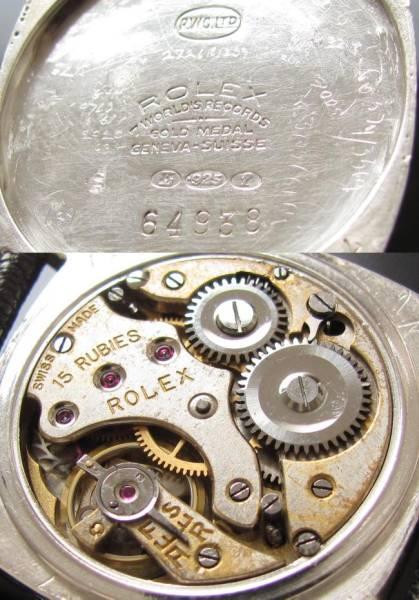 伝説…銀無垢925アーミー★ロレックス★1935年製造ビンテージ Cal.11 1/2のサムネイル