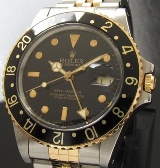 1986年 フジツボ黒Ref.16753★ロレックス GMTマスター★Cal.3075 付属完備のサムネイル