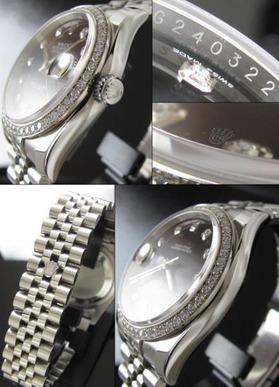 付属完ほぼ未使用G番★ロレックス デイトジャスト★Ref.116244/Cal.3135 ダイヤモンドのサムネイル