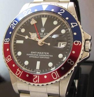 メーカー保証残約6ヵ月★ロレックス GMTマスター★Ref.1675赤/青 Cal.1570のサムネイル