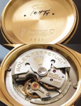 1951年ビンテージボーイズ★ロレックス オイスターパーペチュアルデイト Ref.6627★18金無垢 Cal.1130のサムネイル