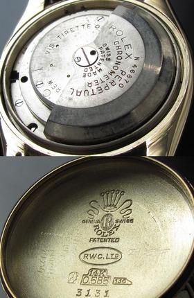 1947年代ロレックス★オイスターパーペチュアル バブルバック Ref.3131★Cal.630NA 14金無垢のサムネイル