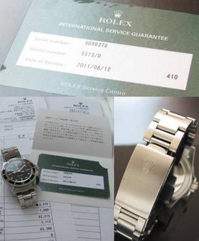 日本ロレックス オーバーホール済24ヵ月保証残★ロレックス サブマリーナ★Ref.5513のサムネイル