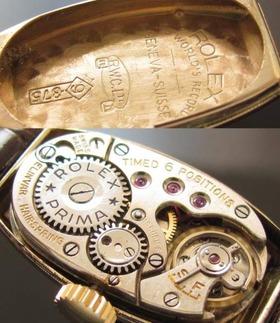 彫金への美の拘り..9金無垢★ロレックス★1930年代☆11ピースダイヤモンド Cal.11のサムネイル