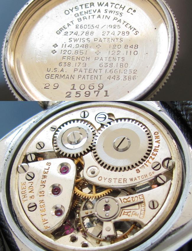 1930年代★ロレックス オイスター クッション★オイスターウォッチカンパニー Cal.60のサムネイル