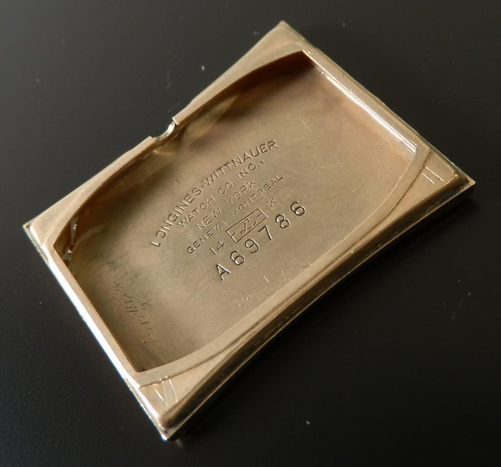 究極美フレアード14金無垢シャンパンゴールド★ロンジン レクタンギユラー★Cal.9LT メンズのサムネイル