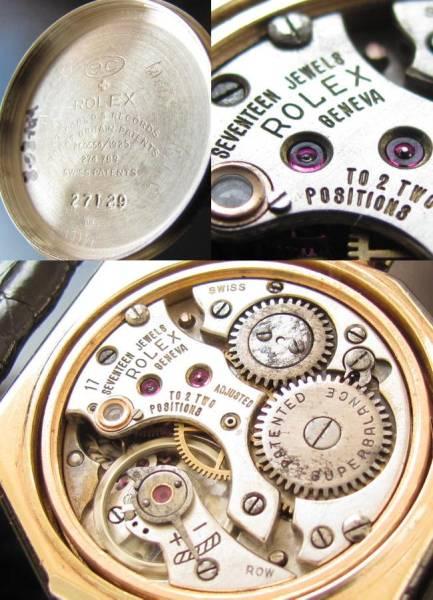 幻 1927年の奇跡★ロレックス オクタゴン8角形★Cal.710☆9金無垢シャンパンゴールド極上品のサムネイル