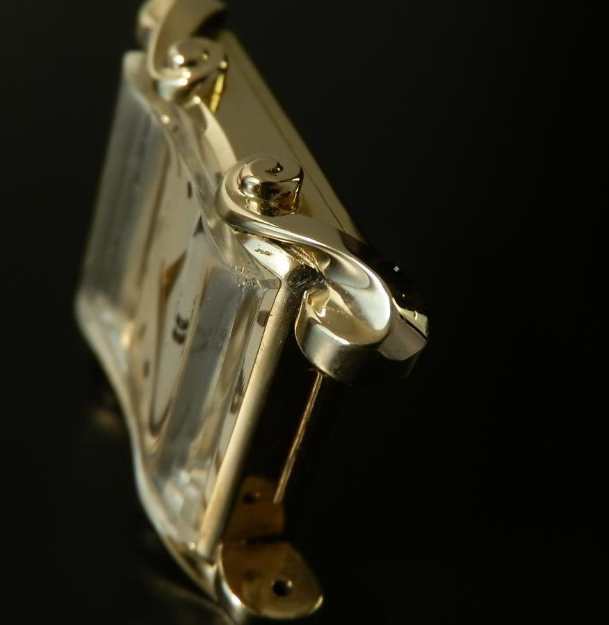 激激希少14金無垢シャンパンゴールド ヨーロピアン★オメガ★角型Ref.6502/Cal.302のサムネイル