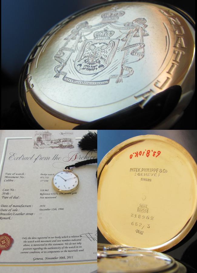 1954年アーカイブ☆18金無垢シャンパンゴールド★パテック フィリップ★Ref.652/3のサムネイル