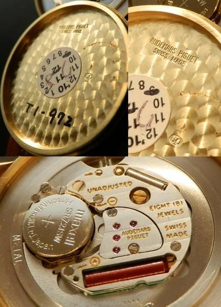 デッドストック級美品★オーデマ・ピゲ★18金無垢シャンパンゴールド クオーツのサムネイル