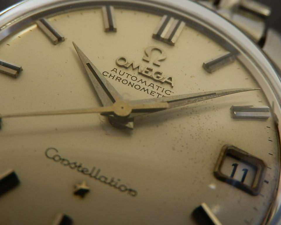 1960年代Cal.561★オメガ コンステレーション ファーストモデル クイックセットデイト★ビーンズブレス Ref.14393.7.SCのサムネイル