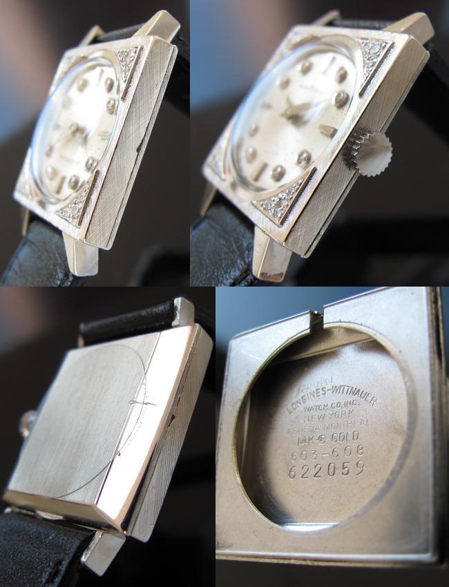 ロンジン★14金無垢のホワイトゴールド オリジナルダイヤモンド★Ref.603-608 Cal.14.9のサムネイル