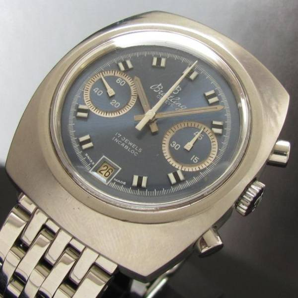 1970年代美品★ブライトリング インカブロック★Cal.7734 クロノグラフのサムネイル