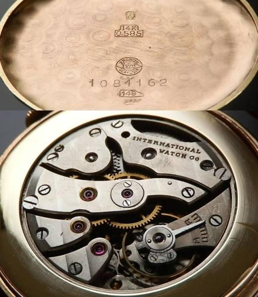 1943年14金無垢ピンクゴールド クロウラグ★IWC オールドインター★Cal61のサムネイル