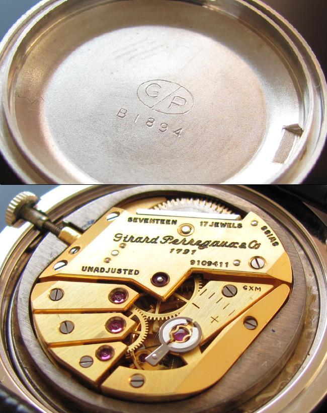 ジラールペルゴ★スモールセコンド★14金無垢ホワイトゴールド Cal.86のサムネイル