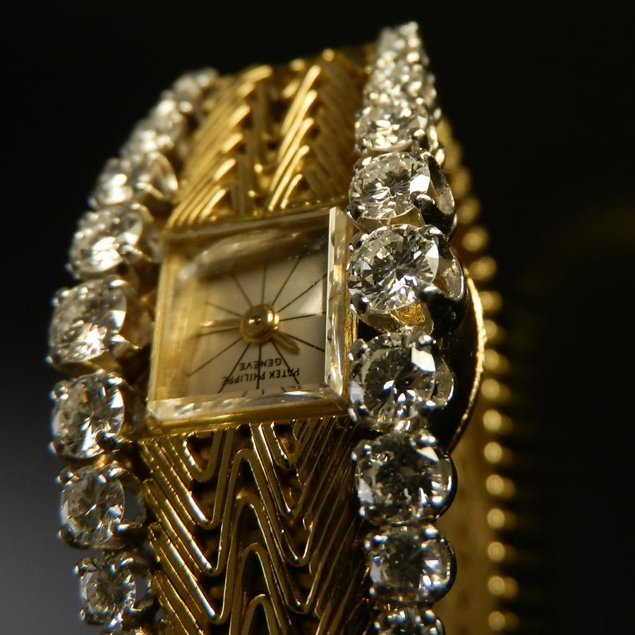 究極美..純正20ピース1.5カラットダイヤ 18金無垢シャンパンゴールド★パテック フィリップ★Ref.3266 Cal.13 320 Wリンクチェーンのサムネイル