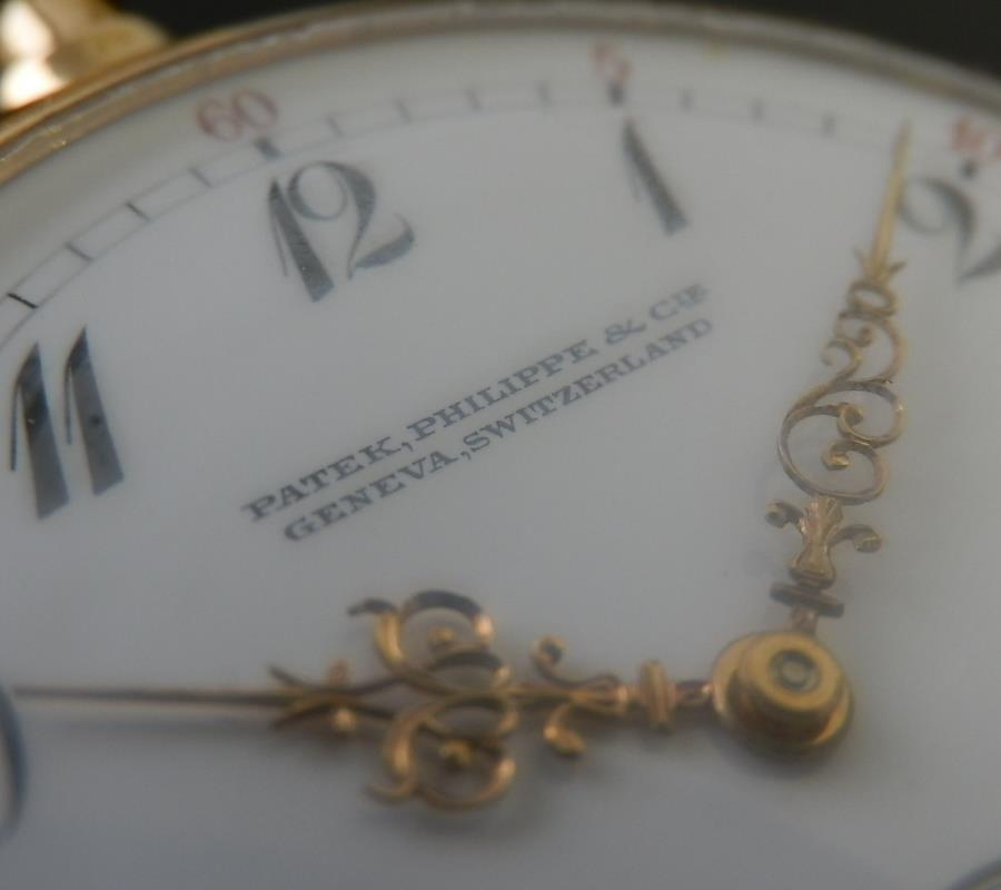1909年製造18金無垢シャンパンゴールド★パテック フィリップ★オープン懐中☆極上のサムネイル