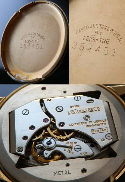 伝説トリプルカレンダー&ムーンフェイズ☆1949年製造★ルクルト★Cal.806 スモールセコンドのサムネイル