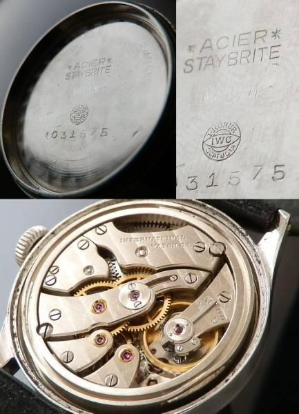 1944年…耐磁への思い★IWC オールドインター★幻…Cal.60 ステイブライト スティールのサムネイル