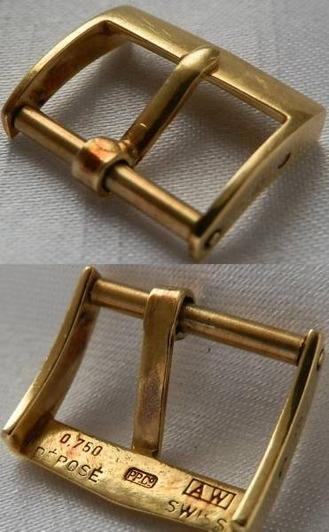 激希少☆1950年代AW社18金無垢尾錠★パテック フィリップ★14mmのサムネイル