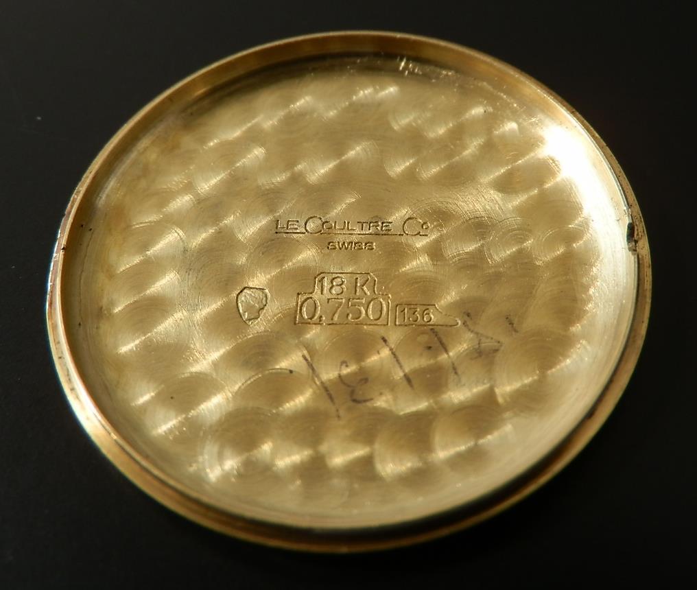 極上美品18金無垢★ ジャガー・ルクルト Ref.9124.21 スパーラウンドスリムケース ★名機Cal.818/3のサムネイル