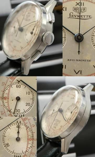 幻★ダブルネーム ホイヤー&リボレット クロノグラフ★伝説名機Cal.39のサムネイル