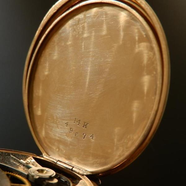 激希少トリカラーゴールド14金無垢ハンター★エルジン Cal.415★1915年頃 シールド & フラワーガーデンのサムネイル