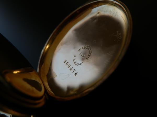 """1902年頃製造★オメガ★14金無垢ハンター""""エングレービング""""ケース フェイス高級彫金仕上げ OMEGA2309660のサムネイル"""