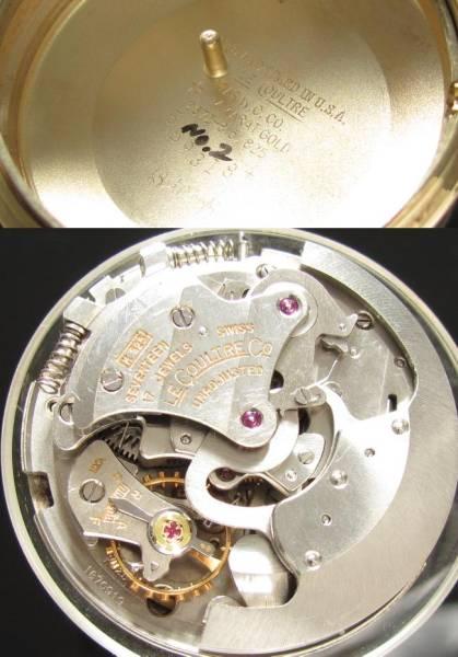 メモボックス最高峰Cal.825オート★ジャガー・ルクルト★14金無垢シャンパンゴールド☆37mmのサムネイル