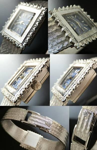 激希少オール18金無垢ホワイトゴールド★ロレックス ビンテージ★28ピース純正ダイヤモンド Cal.1400のサムネイル