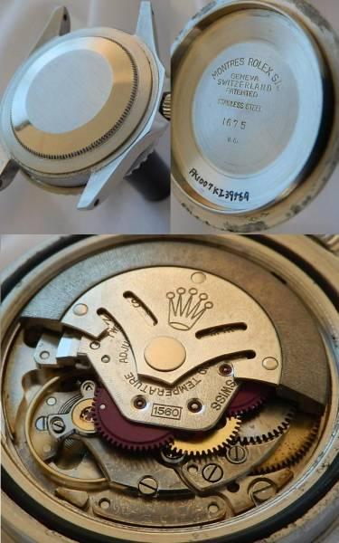 激希少ミラーダイアル★ロレックス GMTマスター Ref.1675/Cal.1560★伝説ヒラメのサムネイル