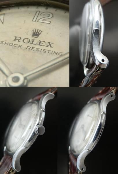 激希少ステンレススティール ドルフィンラグ★ロレックス SHOCK-RESISTING★Ref.4542/Cal.700のサムネイル