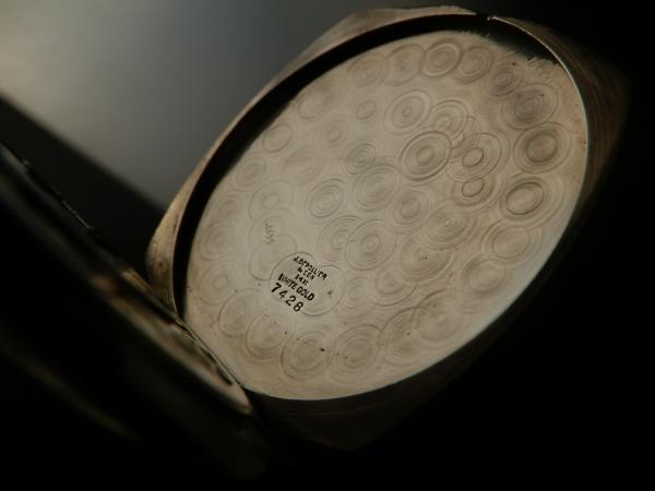 激希少14金無垢ホワイトゴールド彫金美★ウォルサム グレード210★極上 1918年製造のサムネイル