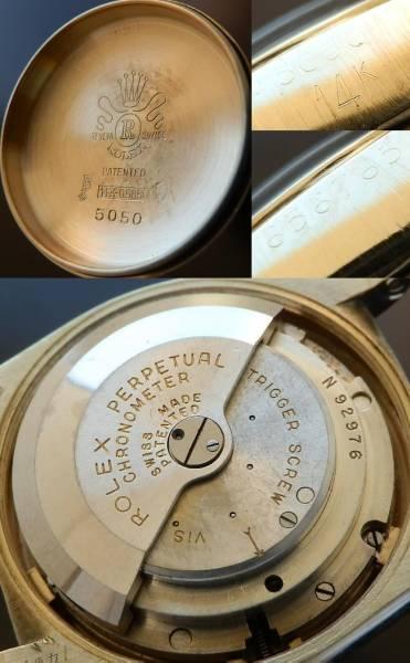 激希少6代目ビッグバブルバック★ロレックス Ref.5050/Cal.630★14金無垢シャンパンゴールドのサムネイル