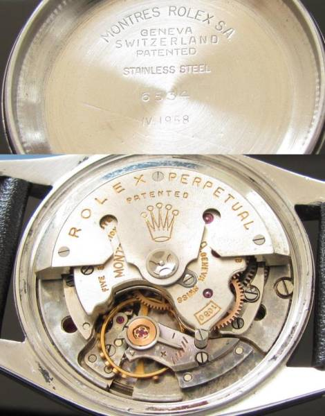 激激希少1958年★ロレックス オイスターパーペチュアルデイト★Ref.6534/Cal.1030 立体的造形への美のサムネイル