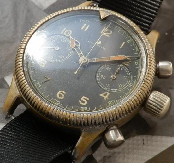 1945年ドイツ空軍本物★チュチマ フリーガークロノグラフ★Cal.59のサムネイル