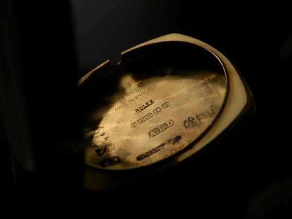 幻デニソン社製9金無垢★ロレックス クッション Cal.10 1/2★1920-30年頃のサムネイル