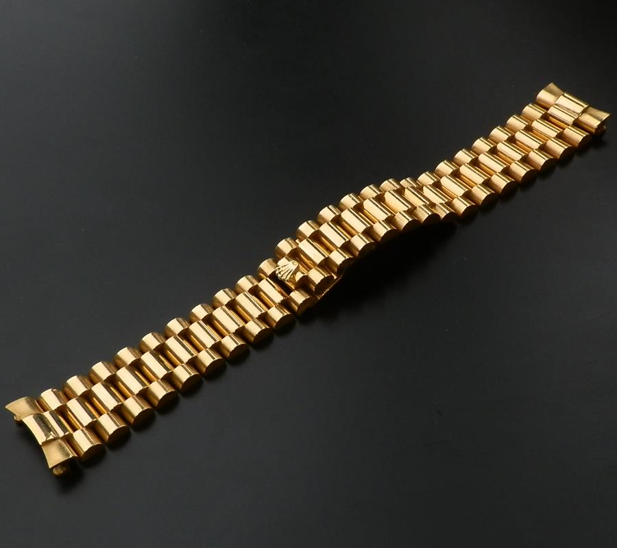 1980's18金無垢★ロレックス プレジデントブレス Ref.8385★185cmのサムネイル