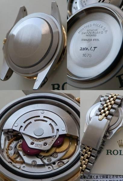 日本ロレックス見積りRef.1675★ロレックス GMTマスター★Cal.1570 フジツボブラック美品のサムネイル