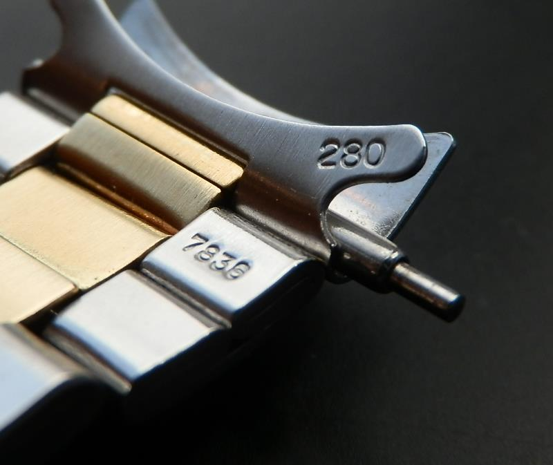 1971年製造★ロレックス 14金無垢 & ステンレススティール 3連巻ブレス Ref.7836★185cmのサムネイル