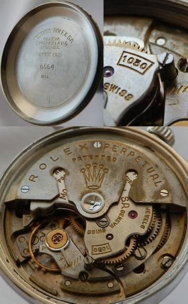 伝説Cal.1030バタフライ★ロレックス Ref.6564★1956年製造美品のサムネイル
