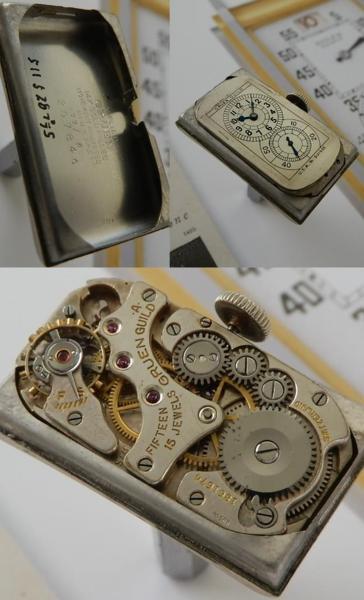 激希少1930年代美品14金張り★グリュエン ドクターウオッチ★Cal.877のサムネイル