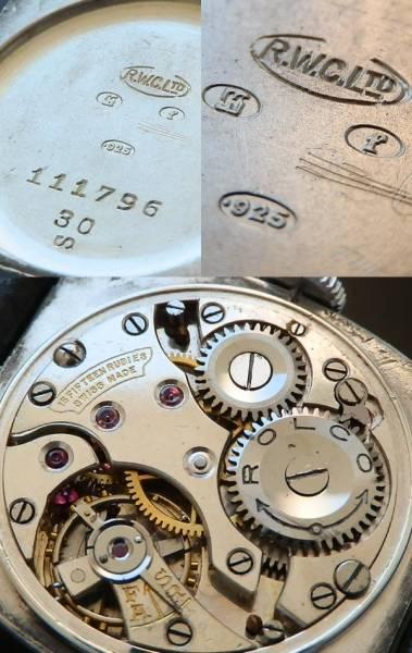幻..刻印が語る謎★ロレックス ロルコ Cal.10 1/2★925銀無垢クッションのサムネイル