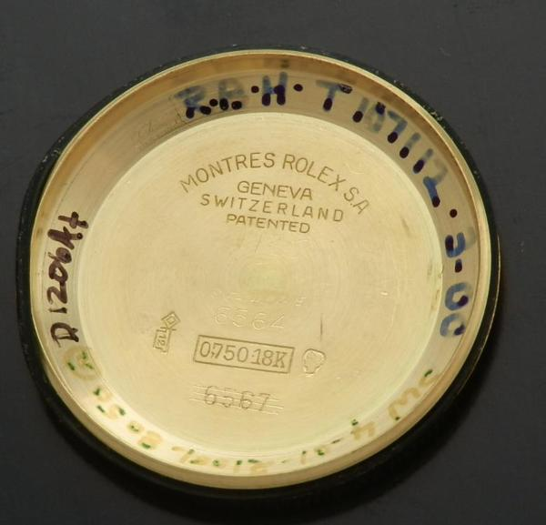 幻!三角トップ楔★ロレックス オイスターパーペチュアル Ref.6564/Cal.1030★18金無垢シャンパンゴールドのサムネイル