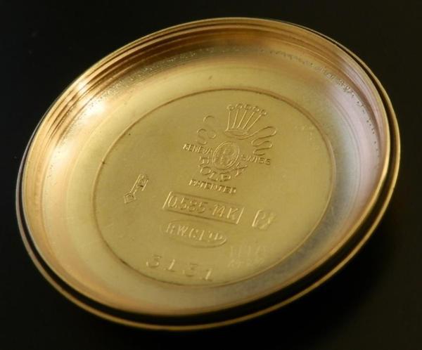 1944年代製造★ロレックス オイスターパーペチュアル ビッグバブルバック Ref.3131/Cal.630NA ★14金無垢のサムネイル