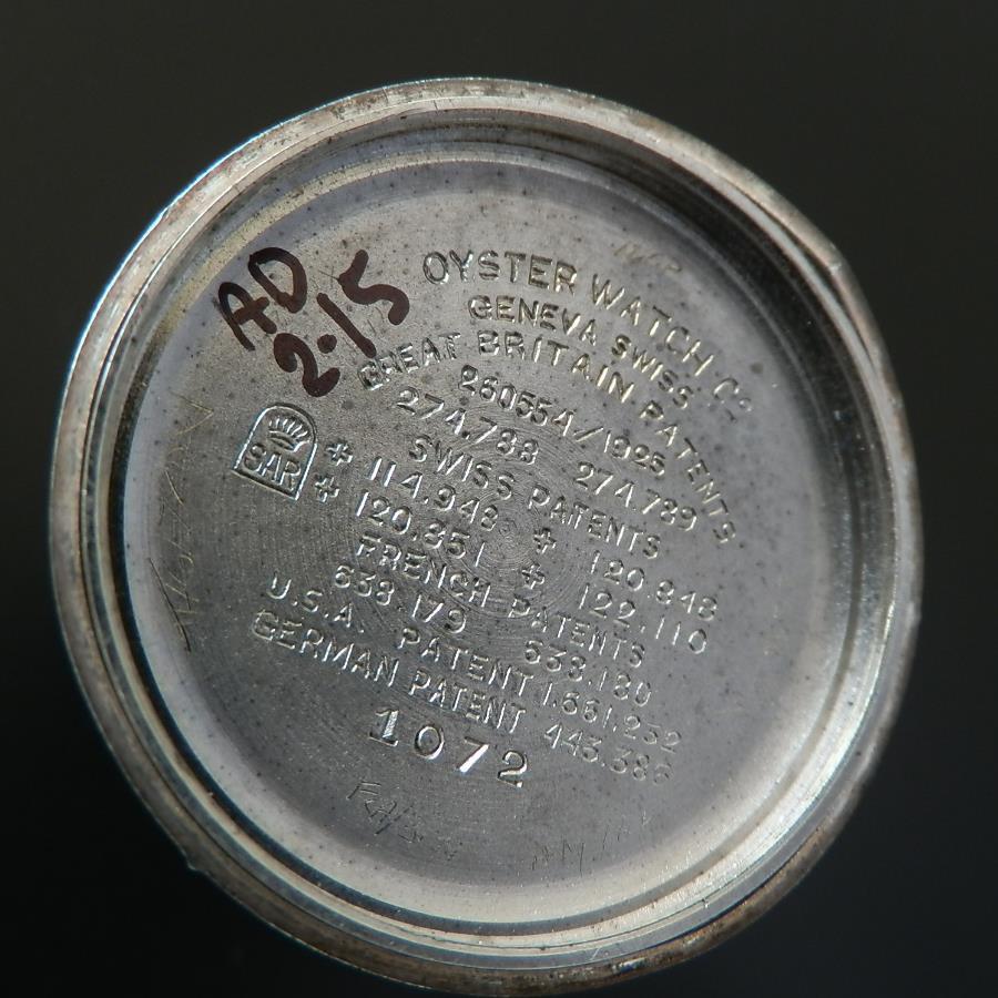 幻Ref.1072★ロレックス 1'stオイスタークッション★Cal.10 1/2 1926年のサムネイル
